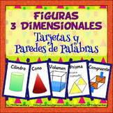Spanish 3D Shapes Vocabulary Cards and Word Wall