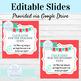 Spanish 3 EDITABLE Preterite and Imperfect Practice Slides