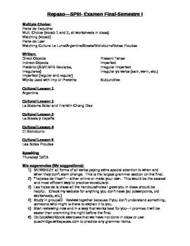 spanish 3 final exam review sheet culture and grammar by best rh teacherspayteachers com spanish 3 final exam study guide answers spanish 3 final exam study guide answers