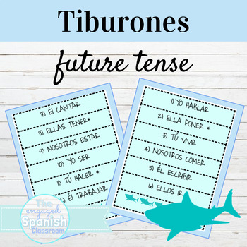 Spanish Future Tense Tiburones Game