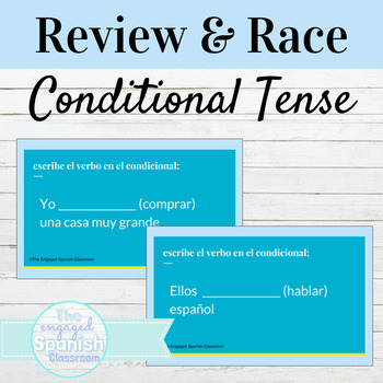 Spanish Conditional Tense (el condicional) Guided Notes + Word Race Activity