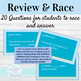 Spanish Por and Para Guided Notes and Word Race Activity