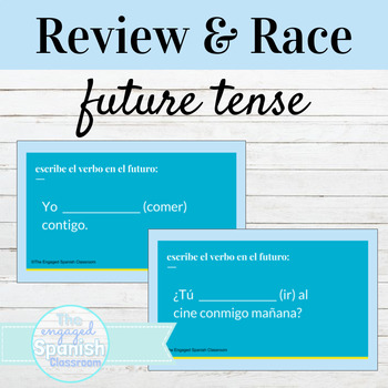 Spanish 3 Guided Notes and Word Race Activity for the Future Tense (el futuro)