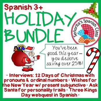 Spanish 3+ - Holiday BUNDLE!