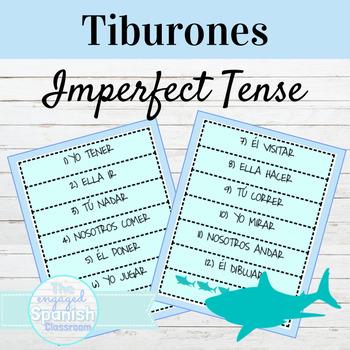 Spanish Imperfect Tense of Regular + Irregular Verbs: Tiburones conjugation game