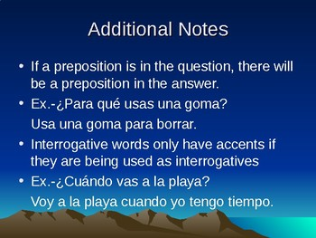 Spanish 3: Interrogatives PowerPoint