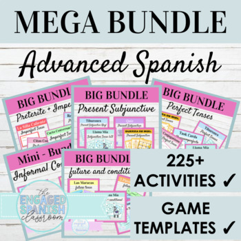Spanish 3 MEGA GRAMMAR BUNDLE: 100+ Spanish 3 Products