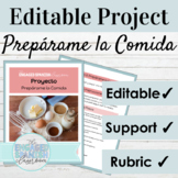 Editable Spanish Project Informal Commands | Spanish Recip