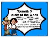 Spanish 3 Phrase of the Week List (Español 3 frase de la semana)