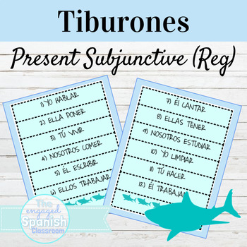 Spanish Present Subjunctive Regular Verbs Tiburones Game