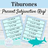 Spanish Present Subjunctive Regular Verbs Tiburones Game