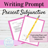 Spanish Present Subjunctive Tense Writing Prompt with Hope