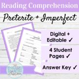 Spanish Preterite and Imperfect Tense Reading Comprehensio