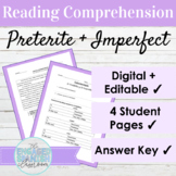 Editable Spanish Preterite and Imperfect Reading and Activities