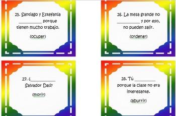 Spanish 3 Task Cards for Estar + Past Participle in Spanish