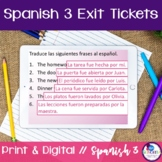 Spanish 3 Exit Tickets:  95