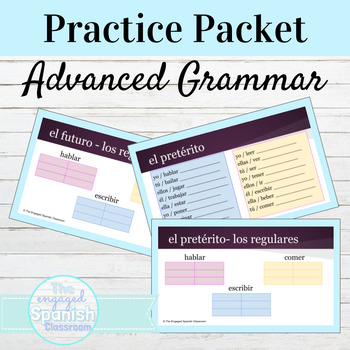 Spanish 3 Imperfect Writing Practice Packet: El Imperfecto