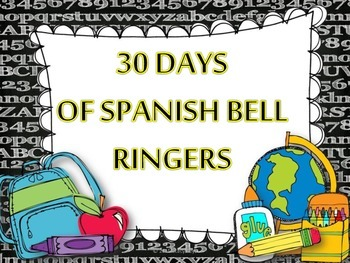 Spanish 30 Day Bell Ringers