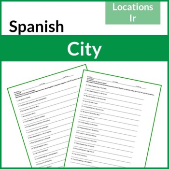 Spanish City Locations and the Verb Ir Worksheet