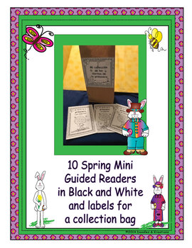Spanish Spring Mini Guided Readers in black and white