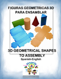 Spanish 3D Geometrical Shapes to Assembly / Fig. Geometricas 3D para Ensamblar