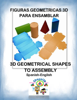Spanish 3D Geometrical Shapes to Assembly / Fig. Geometricas 3D para Ensamblar