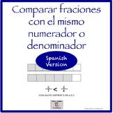Spanish 3rd: Lessons Comparar Fracciones con el mismo deno
