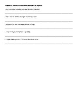 Spanish 4: Commands Sentences