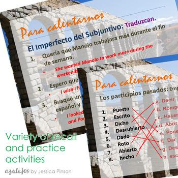 Spanish 4 Complete Grammar Bell Work Bundle!!