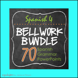 Spanish 4 Complete Grammar Bell Work Bundle!!
