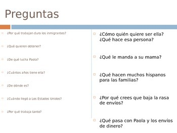 Spanish 4 Immigration Lesson Unit