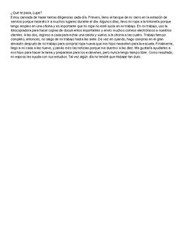 Spanish 4: Interacciones Chapter One Vocabulary Test