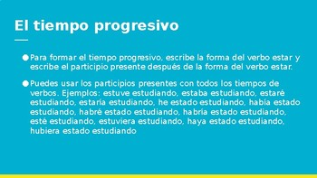 Spanish 4: Present Participles PowerPoint