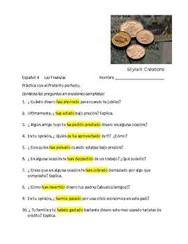 Spanish 4   Present Perfect Subjunctive Practice while reviewing Present Perfect