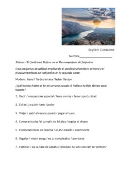 Spanish 4 Speaking with Conditional Perfect and Pluperfect Subjunctive
