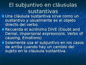 Spanish 4: Subjunctive PowerPoint