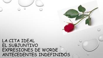 Spanish 4 (UHS) Unit- Ideal Date, Subjunctive w/ WORDE & Indefinite Antecedents