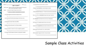 Spanish 4 (UHS) Unit- Present Perfect Subjunctive and Professions