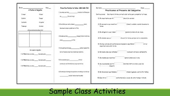 Spanish 4 (UHS) Unit- Present Subjunctive and Present Perfect Subjunctive