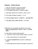 Spanish 4 first day of school icebreaker questions