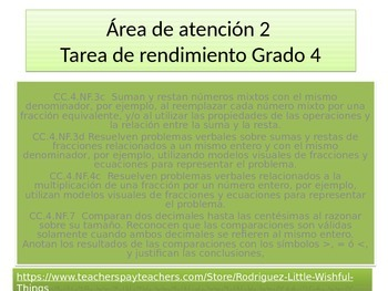 """Spanish 4th grade Critical Area 2 """"Party Time""""Performance Task"""