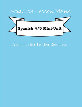 Spanish 4 or 5 Mini-Unit: La Belleza y La Estetica