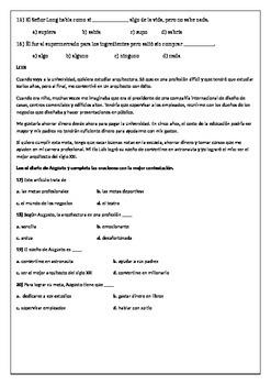 Spanish 4/5 Exit Exam / AP Spanish Entrance Exam