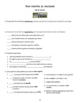 Spanish 4/AP/IB (Cuestiones/desafíos globales -racismo/discriminación/prejuicio)