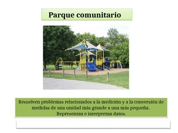 "Spanish 4th Grade Critical Area 3  "" Community Playground"" Math Performance Task"
