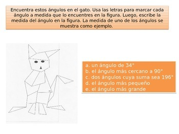 Spanish 4th grade Chapter 11 Math performance task