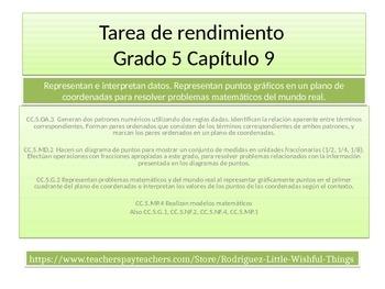Spanish 4th grade Chapter 9- Math performance task