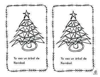 Spanish Emergent Reader: 5 Senses of Christmas
