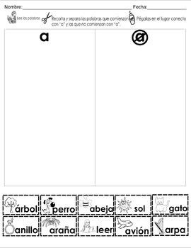Spanish 5 vowels A E I O U 40 different center/homework ac