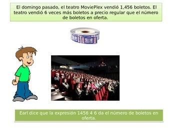 Spanish  5th grade Chapter 2-  Math performance task
